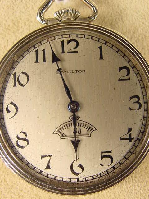 137: Hamilton 912 7J 12S Pocket Watch NR - 2
