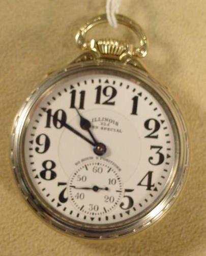 291: Illinois Bunn Special 163 23J 60 HR Pocket Watch