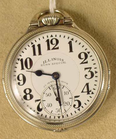 321: Illinois Bunn Special 163 23J 60 HR Pocket Watch