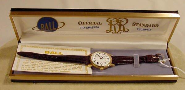 396: Ball Trainmaster 25J Wrist Watch in 10K Case NR