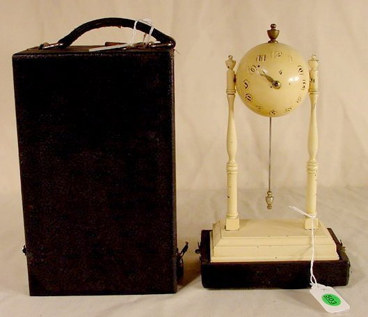 503: Gilbert Ball Clock with Traveling Case NR