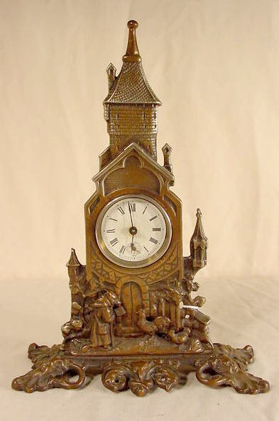 517: Regent Metal Architectural Figural Clock NR