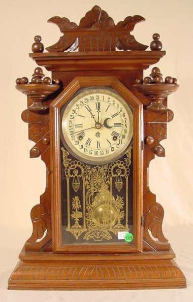 526: Waterbury Hudson Shelf Clock with Calendar NR