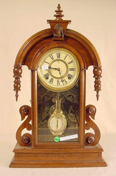 528: Kroeber Tear Drop Shelf Clock in Walnut NR