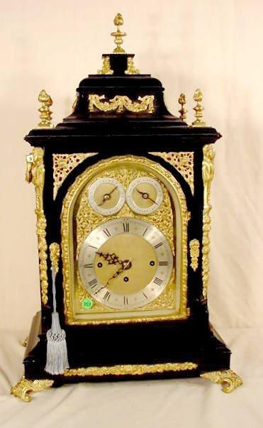 569: Lg English Bracket type Clock, 9 Bell 3 Train NR