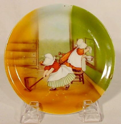 2002: Royal Bayreuth Plate with Sunbonnet Babies NR