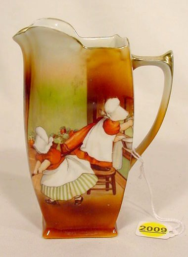 2009: Royal Bayreuth Milk Pitcher with Sunbonnet Babies