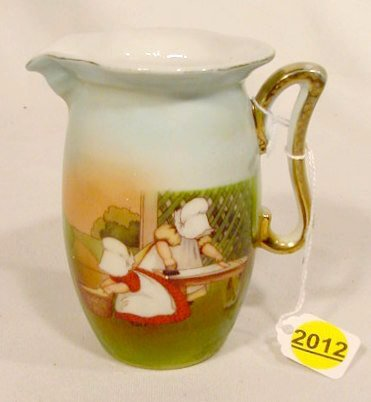 2012: Royal Bayreuth Milk Pitcher with Sunbonnet Babies
