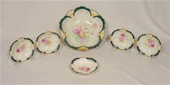 2119: 6 pc Marked RS Prussia Berry Set Mold 211 NR