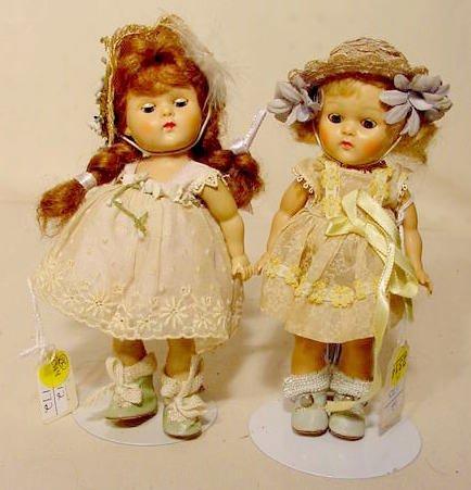 2314: Pr Vogue Hard Plastic Ginny Dolls NR