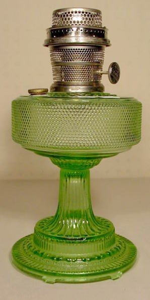 23: Aladdin 105 Green Colonial Lamp, Model B Burner