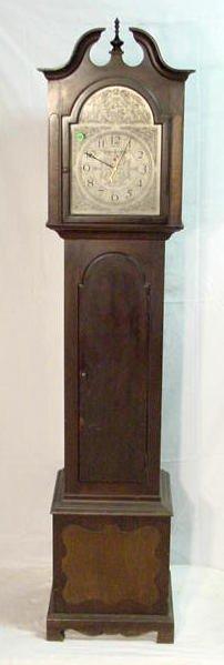 527: GE Modern Longfellow Tall Case Radio Clock NR