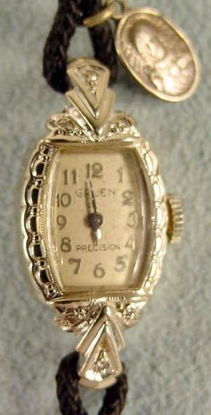 4: Ladies Gruen Precision 275 17J 14K Wrist Watch NR - 2