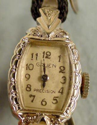 4: Ladies Gruen Precision 275 17J 14K Wrist Watch NR - 3