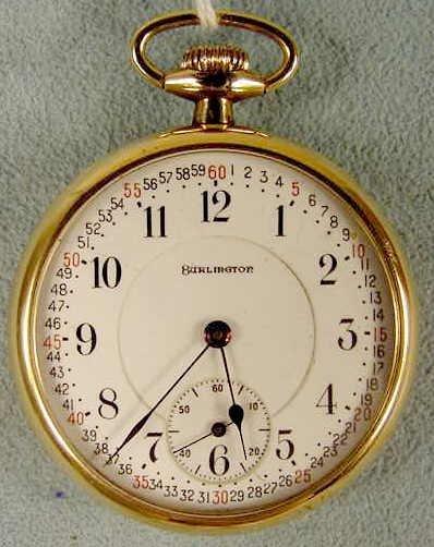 5: Burlington 16s 21j LS GCW Pocket Watch NR