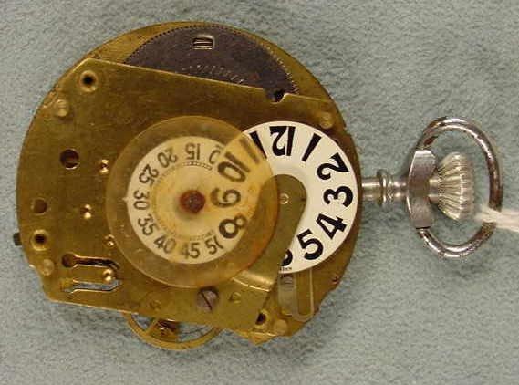 7: Swiss Digital Pocket Watch in Chrome Case NR