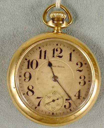 12: South Bend 17J 16S LS Pocket Watch NR