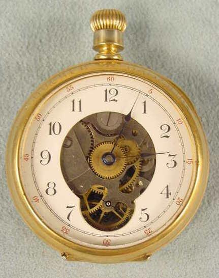14: Hampden 18s 15j Skeletonized Pocket Watch NR
