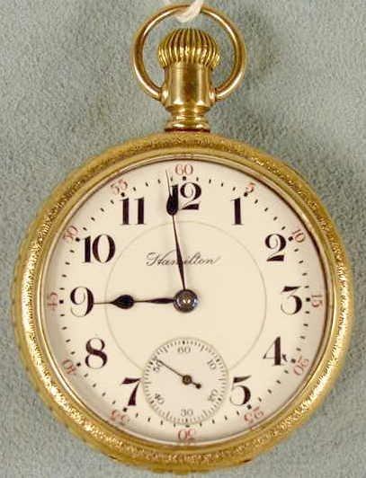 19: Hamilton 946 18s 23j 5 POS LS Pocket Watch NR
