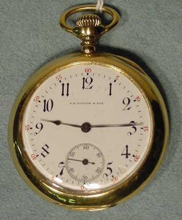 24: C.H. Meylan 10s 21j 18K OF Pocket Watch NR