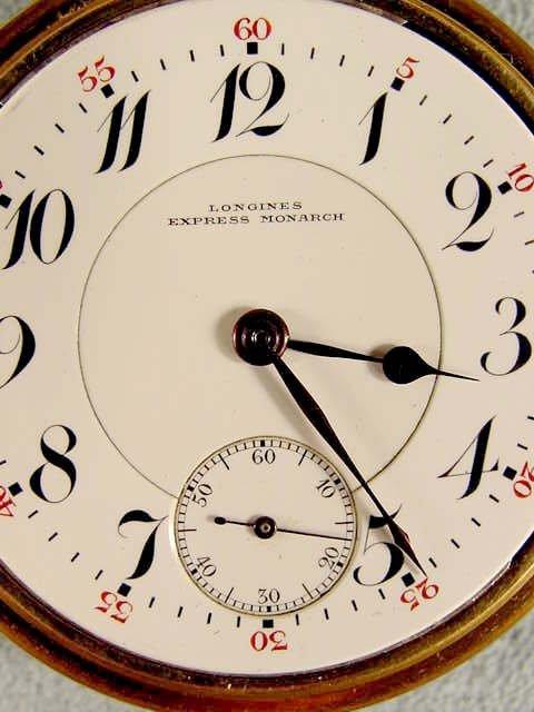 70: Longines Express Monarch 21J LS Pocket Watch NR - 2