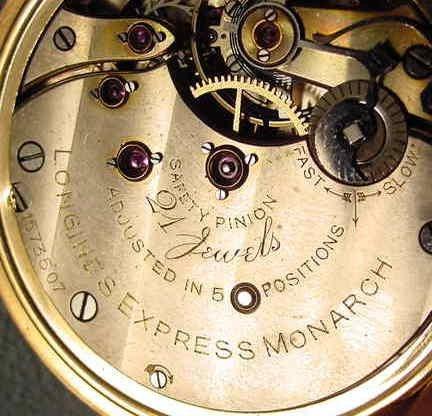 70: Longines Express Monarch 21J LS Pocket Watch NR - 6