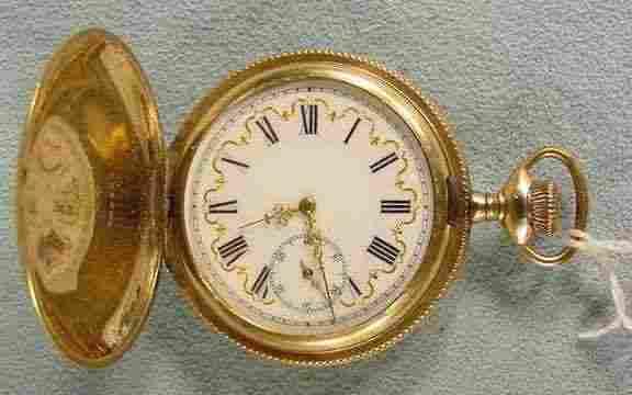 Elgin Fancy Dial 17j Pocket Watch in h.c. NR