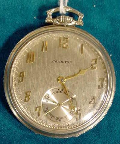 95: Hamilton Masterpiece 23J 12S Pocket Watch NR