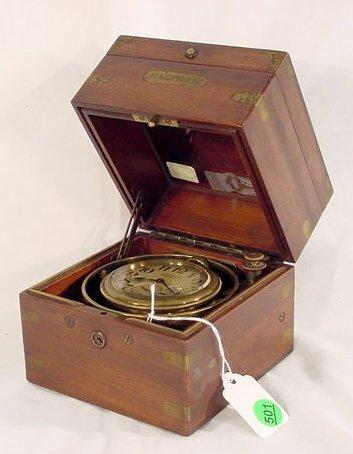 501: Waltham Cased Navy Chronometer NR