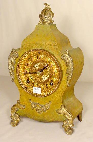 503: Ansonia Metal Case Shelf Clock NR