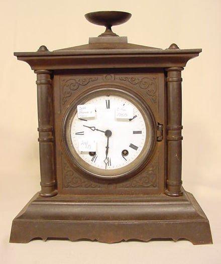 509: Seth Thomas & Sons Iron Case Clock NR
