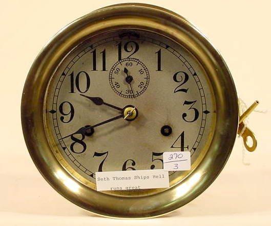516: Seth Thomas Ship's Bell Clock NR
