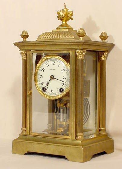 517: Seth Thomas Empire #46 Crystal Regulator Clock NR