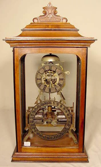 590A: Ithaca Skeleton Table Clock NR