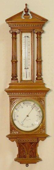 629: Beringer & Schwerer Hanging Barometer NR
