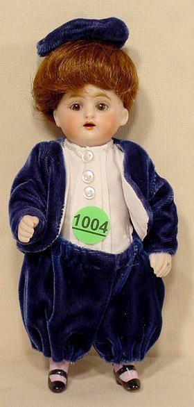 1004: All Bisque Boy Doll Marked 150.10 NR