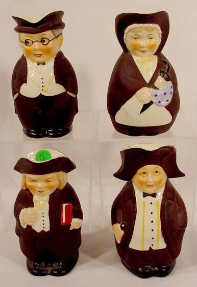 1005: Group of 4 Western Germany Figural Creamers NR