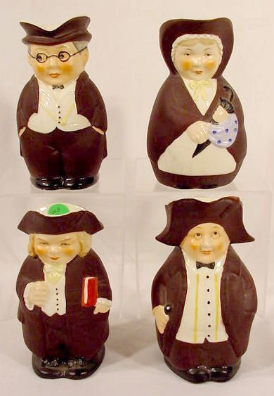 1005: Group of 4 Western Germany Figural Creamers NR - 2