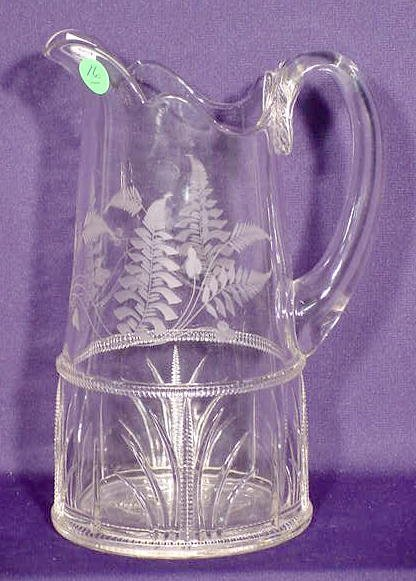 16: EAPG Etched Water Pitcher NR