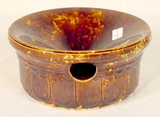 23: Early Mottled Glaze Stoneware Cuspidor NR