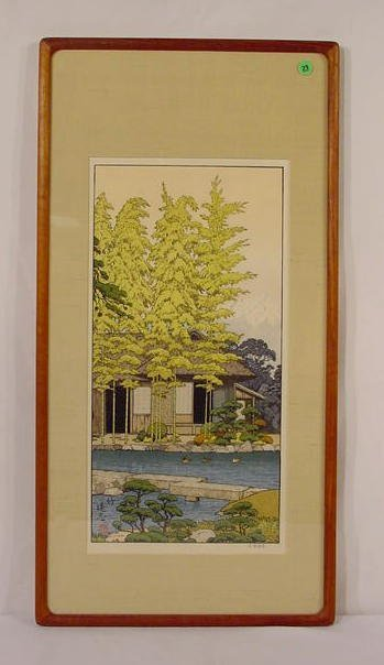 29: Toshi Yoshida Framed Woodblock Print NR
