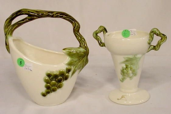 6: 2 pc. Tohay Pottery Vases NR
