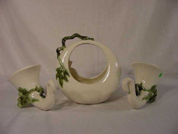 8: Tohay 3 Pc Grape Pottery Group NR