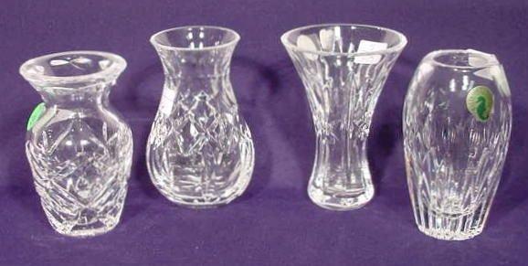 12: 4 Waterford Crystal Vases NR