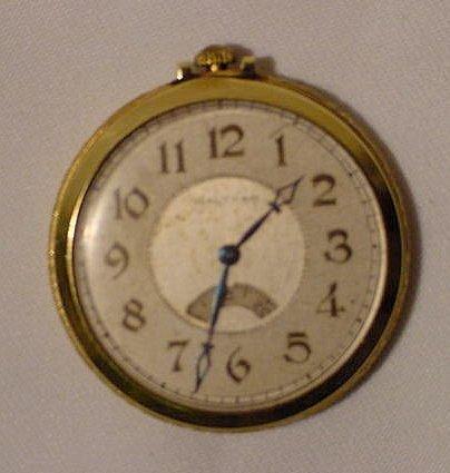 602: Waltham 10S Disc Seconds Pocket Watch  NR