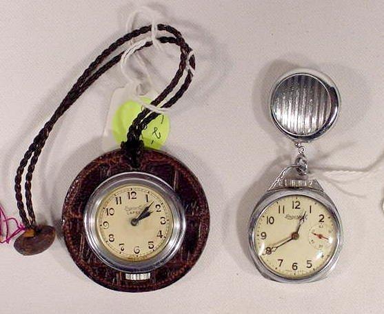 604: 2 Ingersoll Ladies Lapel Watches  NR
