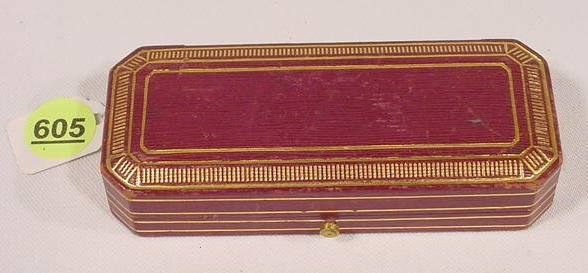 605: Tiffany & Company Leather Covered Jewelry Case  NR
