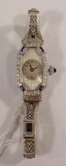 608: Mauran 15j 18K Case Ladies Wrist Watch  NR
