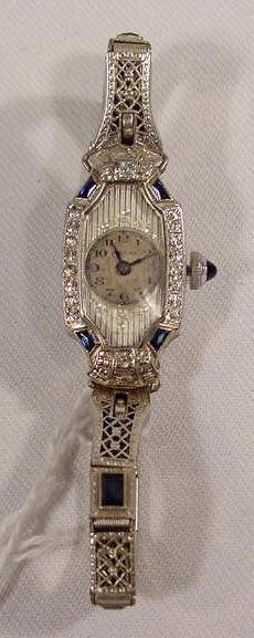 608: Mauran 15j 18K Case Ladies Wrist Watch  NR