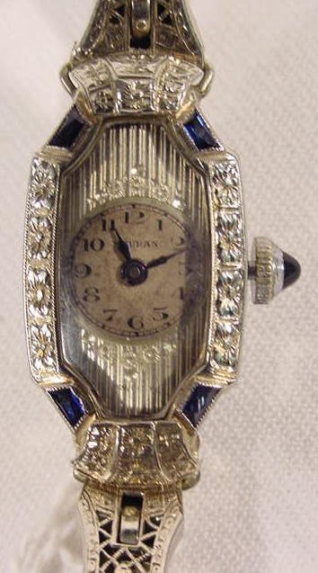 608: Mauran 15j 18K Case Ladies Wrist Watch  NR - 2
